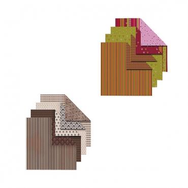 Origami paber VIVICA 15 x 15 cm 50 lehte - ERINEVAD MUSTRID