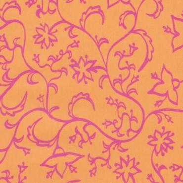 Läbipaistev paber MUSTRIGA 1 115 g/m² 50 x 60 cm - Mille-fleurs Orange