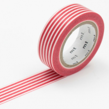 Washi teip 15 mm x 10 m - Border red
