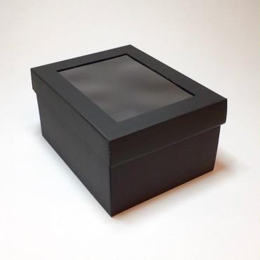 Kinkekarp 19 x 24 x 13 cm AKNAGA - Must lainepapp