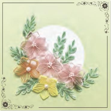 Quilling KAARDIKOMPLEKT (Tee ise) 19 x 19 cm - Lilled 1