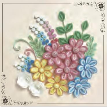 Quilling KAARDIKOMPLEKT (Tee ise) 19 x 19 cm - Lilled 3