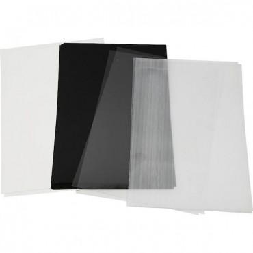 Termokahanev plastik ASSORTII 20 x 30 cm - 4 erinevat lehte