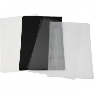 Termokahanev plastik 20 x 30 cm 1 leht - ERINEVAD VARIATSIOONID