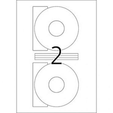 Etiketid BÜROO 10 lehte - Ø 116 mm CD - 2 tk lehel