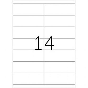 Etiketid BÜROO 10 lehte - 105,0 x 39,0 mm - 14 tk lehel