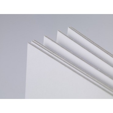 Köitepapp VAL/VAL 1,5 mm 1005 g/m² 22,5 x 32 cm (A4+) 10 lehte - Valge
