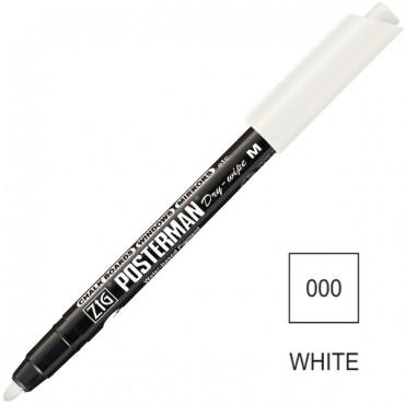 Marker POSTERMAN Dry-Wipe M 1,2 mm - Valge