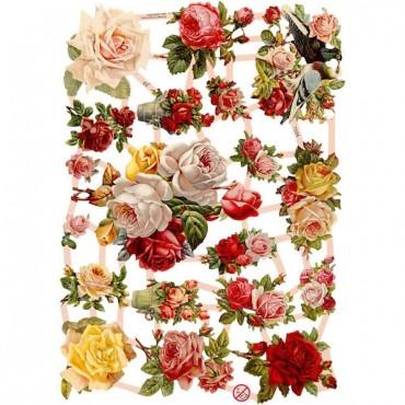 Paberikomplekt ROOSID 16,5 x 23,5 cm 3 lehte