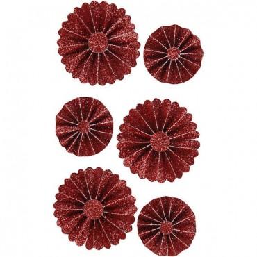 Paberrosetid VIVICA 35 + 50 mm 6 tk. - ERINEVAD VARIATSIOONID