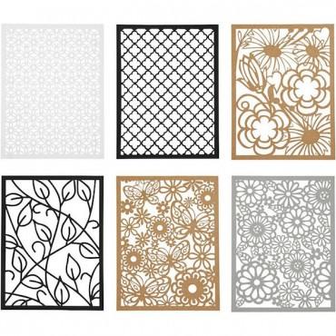 Paberikomplekt LASERPITS 10,4 x 14,6 cm 24 lehte - Must-pruun