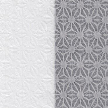 Jaapani paber HEMP FLOWER 33 g/m² 53 x 78 cm - VALGE