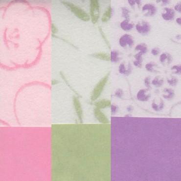 Jaapani paber NATSU NO HANA 80 g/m² 21 x 29,7 cm (A4) - ERINEVAD MUSTRID
