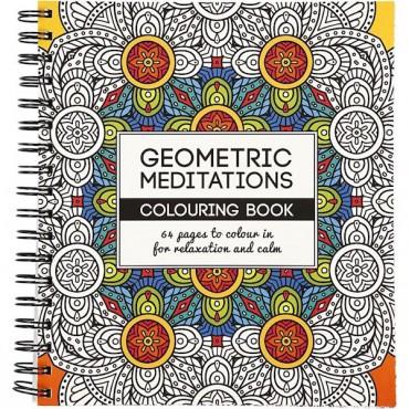 """Värviraamat """"Geometric meditations"""", 64 lehekülge"""