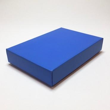 Kinkekarp ZELLULOOS 15,5 x 23 x 4,5 cm - Sinine lainepapp