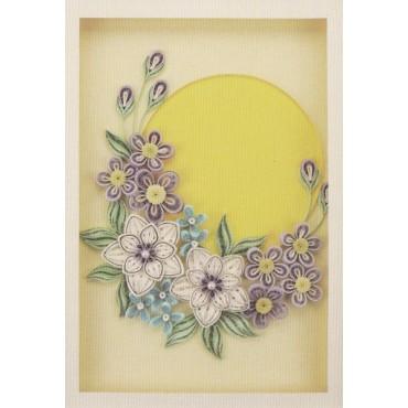 Quilling KAARDIKOMPLEKT (Tee ise) 21 x 29,7 cm - Õitsevad lilled