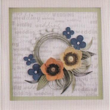 Quilling KAARDIKOMPLEKT (Tee ise) 19 x 19 cm - Väike pulmapärg