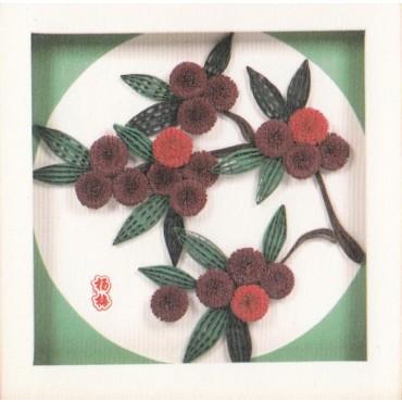 Quilling KAARDIKOMPLEKT (Tee ise) 19 x 19 cm - Waxberries
