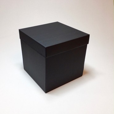 Kinkekarp 20 x 20 x 20 cm - Must lainepapp