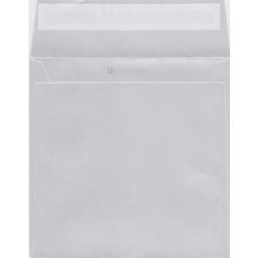 Ümbrik CURIOUS METALLIC 17 x 17 cm 120 g/m² - White silver