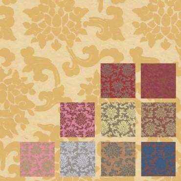 Nepaali paber TIIBETI LOOTOS 60 g/m² 21 x 29,7 cm (A4) 5 lehte - ERINEVAD MUSTRID