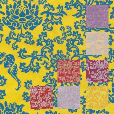 Nepaali paber ÕNNELIK LOOTOS 60 g/m² 21 x 29,7 cm (A4) 5 lehte - ERINEVAD MUSTRID