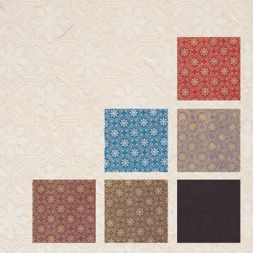 Nepaali paber RUKKILILL 60 g/m² 21 x 29,7 cm (A4) 5 lehte - ERINEVAD MUSTRID
