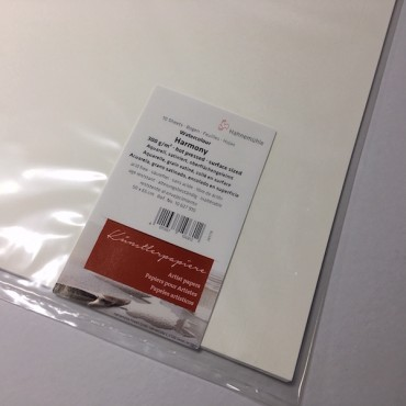 Akvarellipaber HARMONY 300 g/m² 50 x 65 cm CP 10 lehte - Helevalge