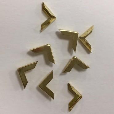 Raamatunurgad 16 x 16 mm 50 tükki - Kuldne