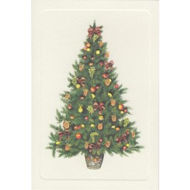 Kaart ja ümbrik ROSSI 240 g/m² 11,5 x 17 cm - Jõulupuu