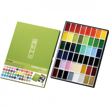 Akvarellvärvid GANSAI TAMBI KOMPLEKT - 48 värvi