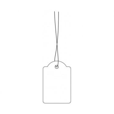Etiketid KARTONG 2,5 x 3,8 cm 100 tk - Valge
