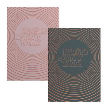 """Märkmik MEDIUM """"Write, don't talk"""" 80 g/m² 14,5 x 21 cm (A5) 251 punktidega lehte - ERINEVAD TOONID"""