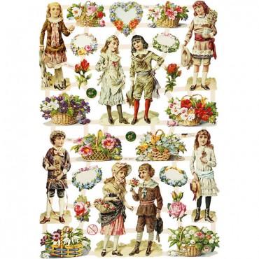Paberikomplekt 16,5 x 23,5 cm 3 lehte - Lapsed ja lilled