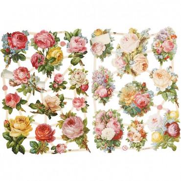 Paberikomplekt 16,5 x 23,5 cm 2 lehte - Roosid