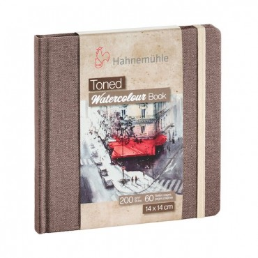 Visandiraamat TONED WATERCOLOUR BOOK 200 g/m² 14 x 14 cm 30 lehte - Pruun