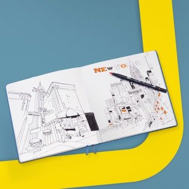 Visandiraamat RUUT 150 g/m² 22,5 x 22,5 cm 112 valget lehte - ERINEVAD VÄRVID