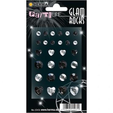 Kaunistuskivikesed GLAM ROCKS 7 x 9,5 cm 1 leht - 15431