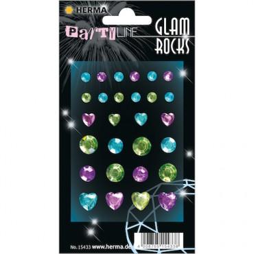 Kaunistuskivikesed GLAM ROCKS 7 x 9,5 cm 1 leht - 15433