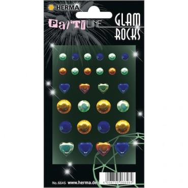 Kaunistuskivikesed GLAM ROCKS 7 x 9,5 cm 1 leht - 6646