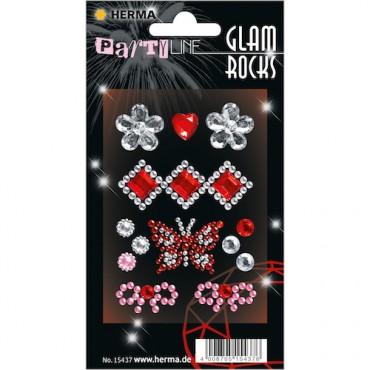 Kaunistuskivikesed GLAM ROCKS 7 x 9,5 cm 1 leht - 15437
