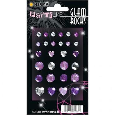 Kaunistuskivikesed GLAM ROCKS 7 x 9,5 cm 1 leht - 15434