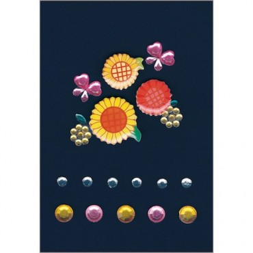 Kaunistuskivikesed GLAM ROCKS 7 x 9,5 cm 1 leht - 6009