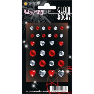 Kaunistuskivikesed GLAM ROCKS 7 x 9,5 cm 1 leht - 15436