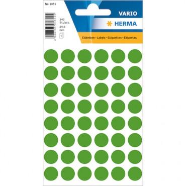 Markeerimispunktid Ø 13 mm 8 x 12 cm 5 lehte - 1855 (roheline)