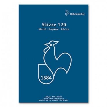 Visandiplokk SKIZZE120  120 g/m² 42 x 59,4 cm (A2) 50 liimitud lehte