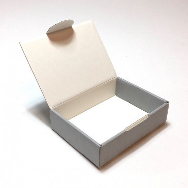 Arhiivikarp 8 x 11 x 3 cm - Hall/valge LP