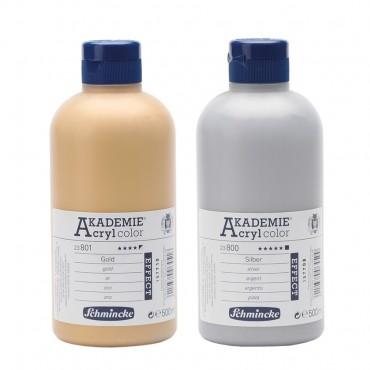 Akrüülvärv AKADEMIE metallik 500 ml - ERINEVAD TOONID