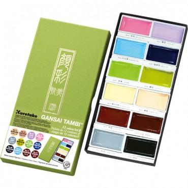 Akvarellvärvid GANSAI TAMBI 2 - 12 värvi