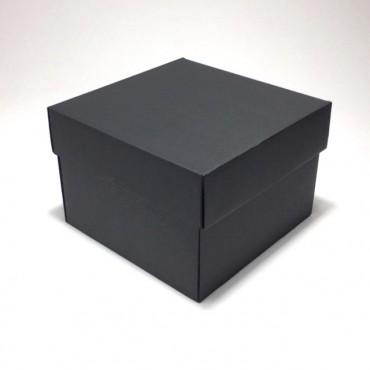Kinkekarp ZELLULOOS 19 x 19 x 13 cm - Must lainepapp